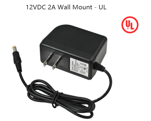 12VDC 2A Wall Mount - UL