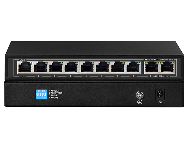 8+2 1000M Unmanaged PoE Switch