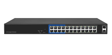 24+2 1000M Unmanaged PoE Switch